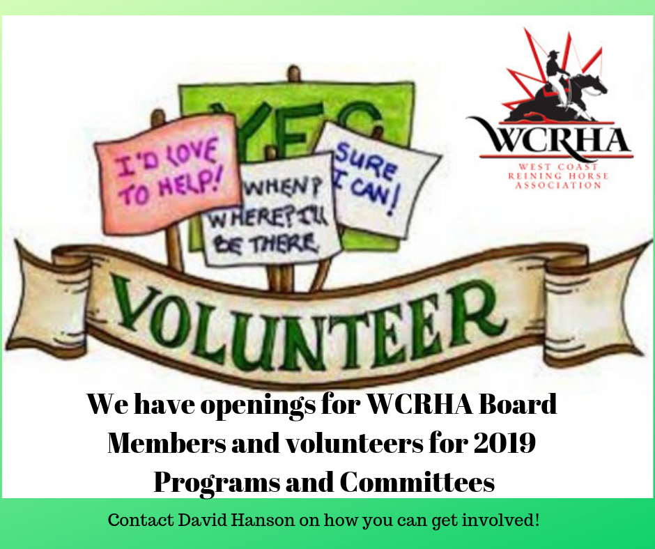 Volunteer request 2019