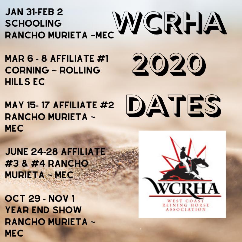 WCRHA 2020 Calendar final