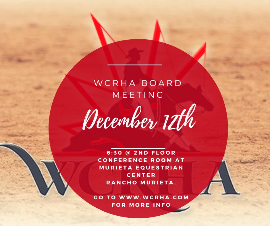 WCRHA Dec 2019 Meetig