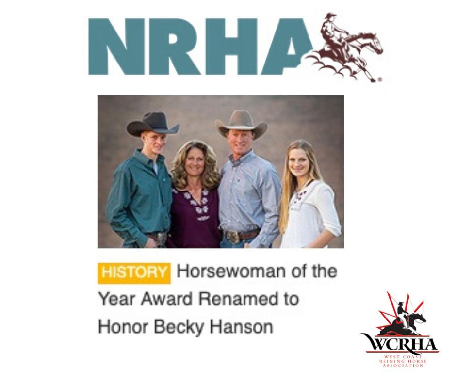 BHanson NRHA Award