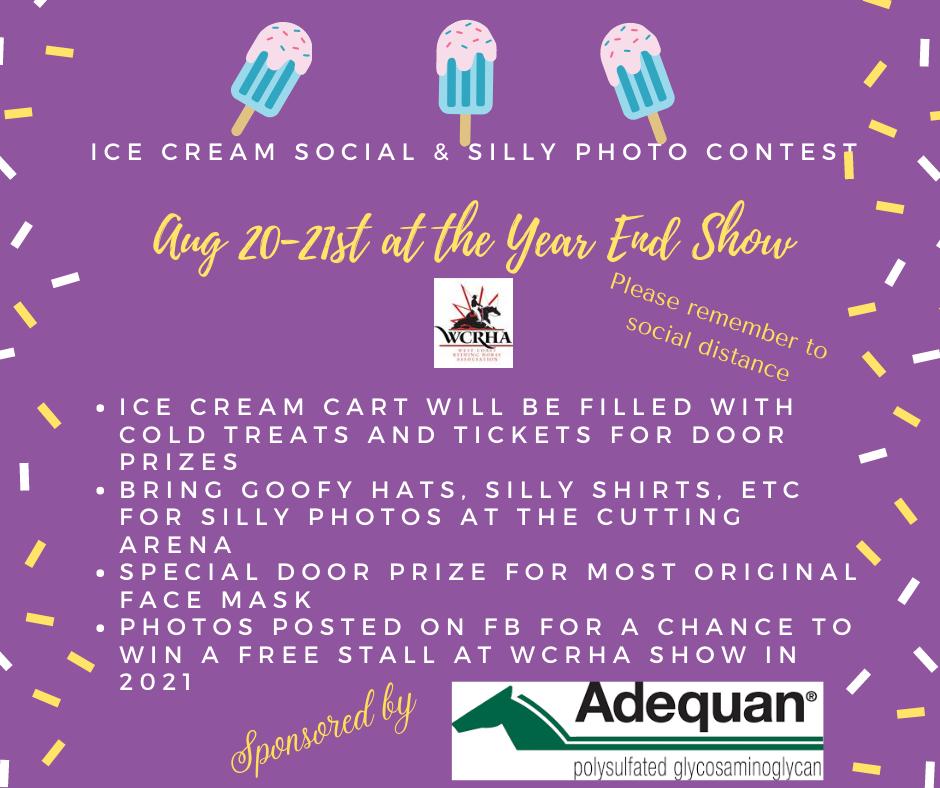 Ice cream Social & silly photo contest