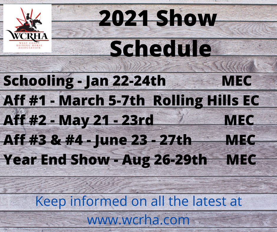 2021 Show Schedule